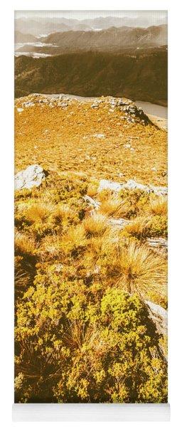 Rustic Mountain Terrain Yoga Mat