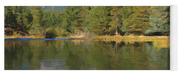 Rustic Sprague Lake Reflections Yoga Mat