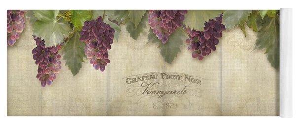 Rustic Vineyard - Pinot Noir Grapes Yoga Mat