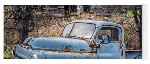 Rusty Blue Dodge Yoga Mat
