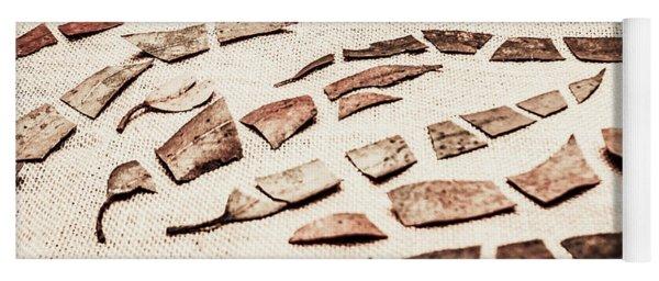 Rusty Metal Leaves Cut With Scissors Yoga Mat