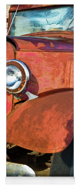 Rusty Red Chevrolet Pickup Truck 1934 Yoga Mat