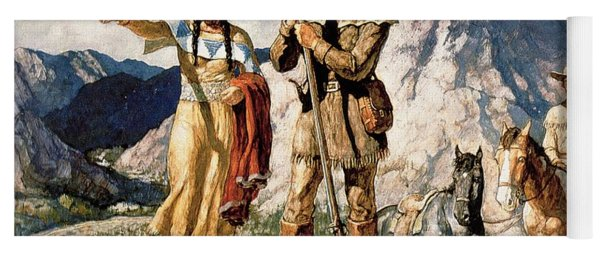 Sacagawea With Lewis And Clark During Their Expedition Of 1804-06 Yoga Mat