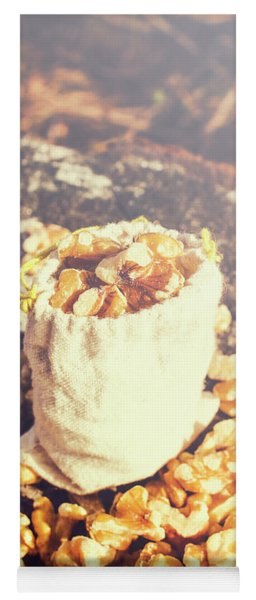 Sack Of Country Walnuts Yoga Mat