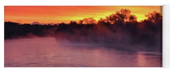Sacramento River Sunrise Yoga Mat