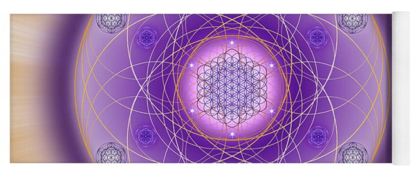 Yoga Mat featuring the digital art Sacred Geometry 704 by Endre Balogh