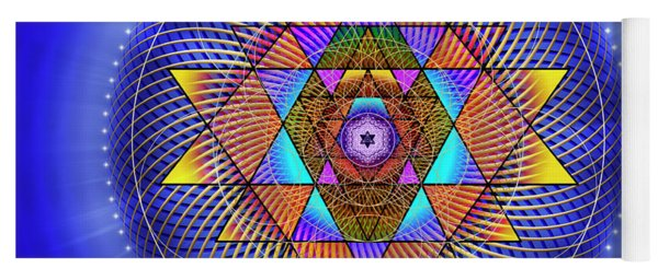 Yoga Mat featuring the digital art Sacred Geometry 705 by Endre Balogh