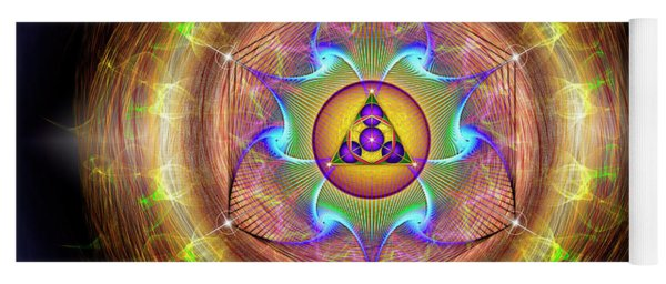 Yoga Mat featuring the digital art Sacred Geometry 707 by Endre Balogh