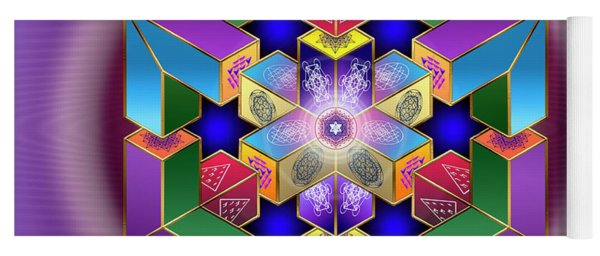 Yoga Mat featuring the digital art Sacred Geometry 711 by Endre Balogh