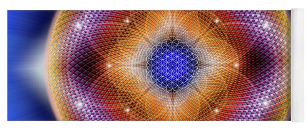 Yoga Mat featuring the digital art Sacred Geometry 712 by Endre Balogh