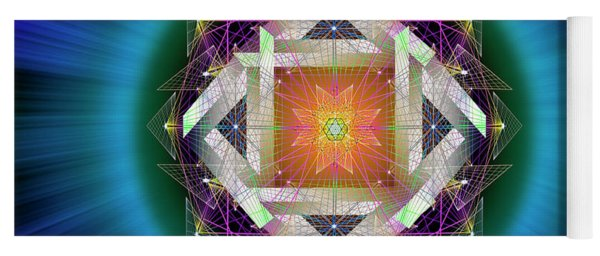 Yoga Mat featuring the digital art Sacred Geometry 714 by Endre Balogh