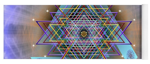 Yoga Mat featuring the digital art Sacred Geometry 717 Version 2 by Endre Balogh