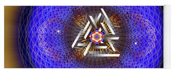 Yoga Mat featuring the digital art Sacred Geometry 719 by Endre Balogh