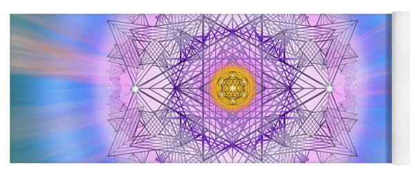 Yoga Mat featuring the digital art Sacred Geometry 720 by Endre Balogh