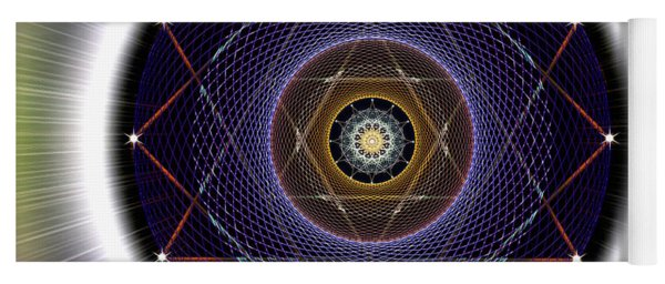 Yoga Mat featuring the digital art Sacred Geometry 722 by Endre Balogh
