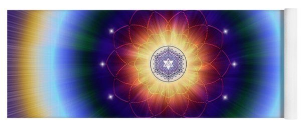 Yoga Mat featuring the digital art Sacred Geometry 724 by Endre Balogh