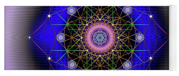Yoga Mat featuring the digital art Sacred Geometry 725 by Endre Balogh
