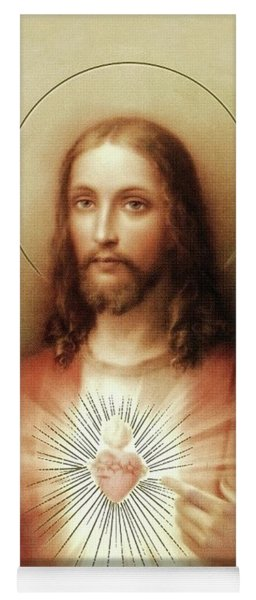 Sacred Heart Of Jesus Yoga Mat
