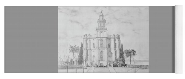 Sacred Steps - St. George Temple Yoga Mat