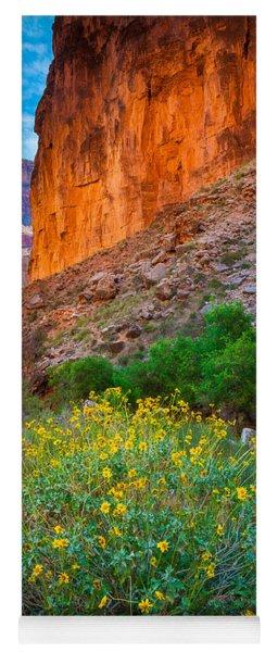 Saddle Canyon Flowers Yoga Mat