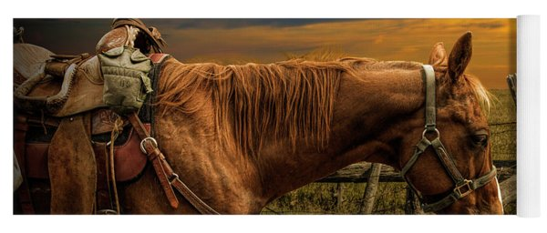 Saddle Horse On The Prairie Yoga Mat
