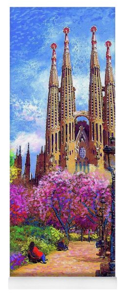 Sagrada Familia And Park Barcelona Yoga Mat