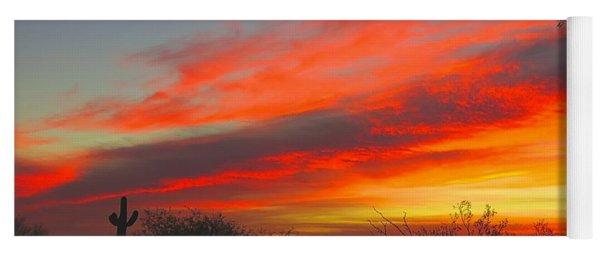 Saguaro Winter Sunrise Yoga Mat