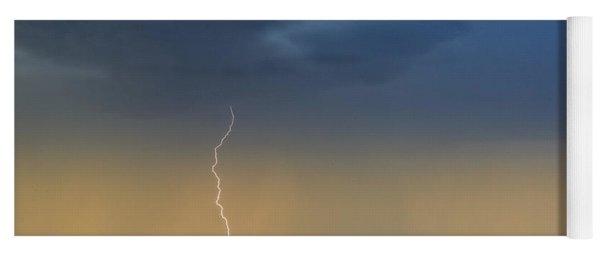Saguaro With Lightning Yoga Mat