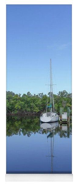 Sailboat At Dock Florida Yoga Mat
