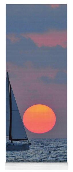 Sailboat At Sunset  Yoga Mat