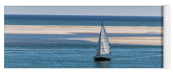 Sailboat In Chatham Harbor Yoga Mat