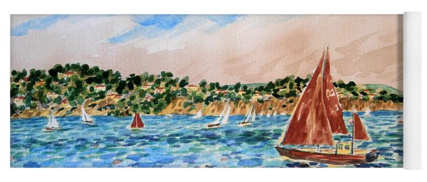 Sailboat On The Bay Yoga Mat