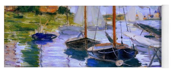 Sailboats On The Seine At Petit Gennevilliers Claude Monet 1874 Yoga Mat