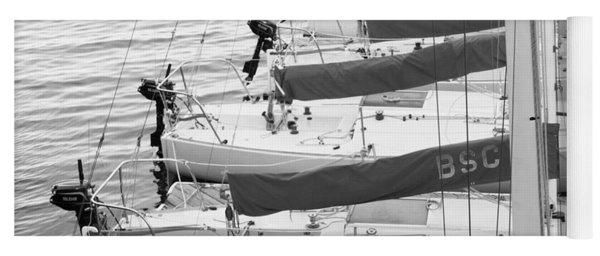 Sailboats Yoga Mat