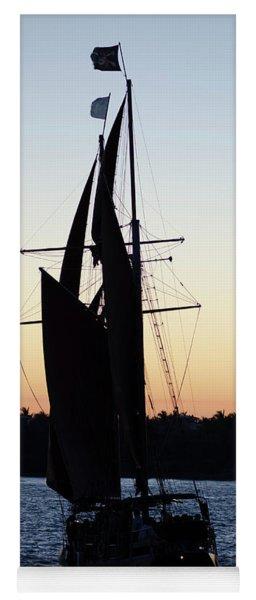 Sailing At Sunset Yoga Mat