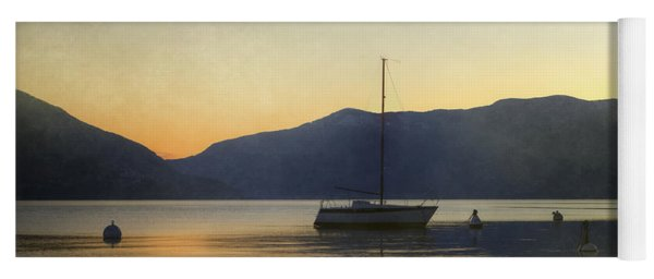 Sailing Boat In The Sunset Yoga Mat