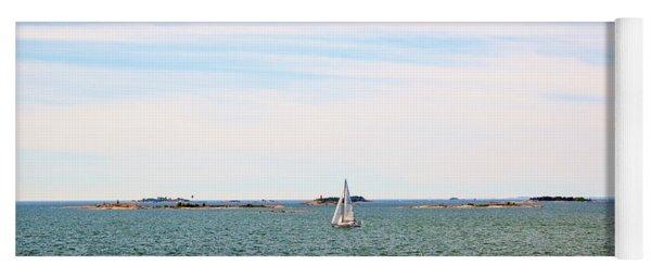 Sailing Boats In Summer Yoga Mat