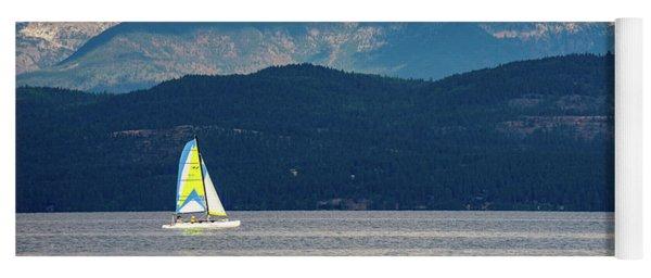Sailing Flathead Lake Yoga Mat
