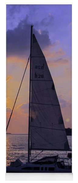 Sailing Home Sunset In Key West Yoga Mat