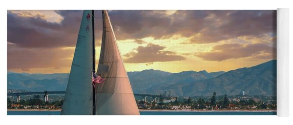 Sailing In San Diego Yoga Mat