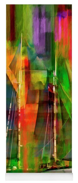 Sailing In The Abstract 2016 Yoga Mat