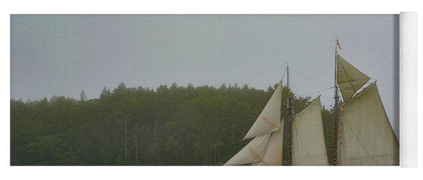 Sailing In The Mist Yoga Mat