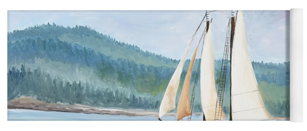 Sailing Into Castine Harbor Yoga Mat