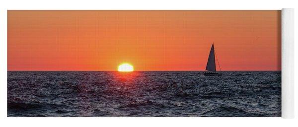 Sailing Into The Sunset Yoga Mat