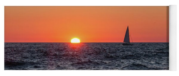 Sailing Into The Sunset Yoga Mat