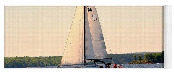 Sailing On Lake Murray Sc Yoga Mat