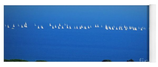 Sailing The Sea And Sky Yoga Mat