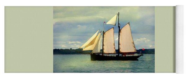 Sailing The Sunny Sea Yoga Mat