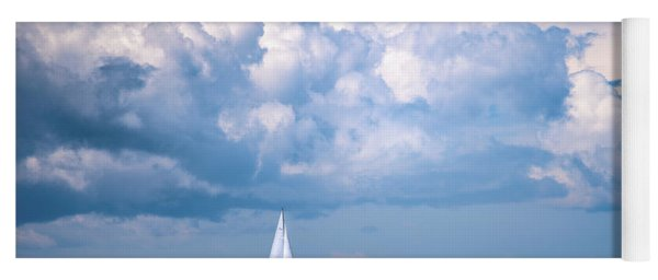 Sailing Under The Clouds Yoga Mat