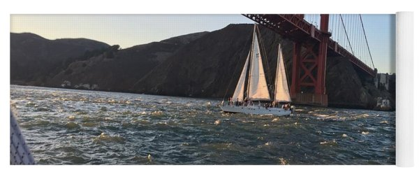 Sailing Under The Golden Gate Yoga Mat